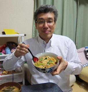 Toru Goto Holding Katsudon.jpg